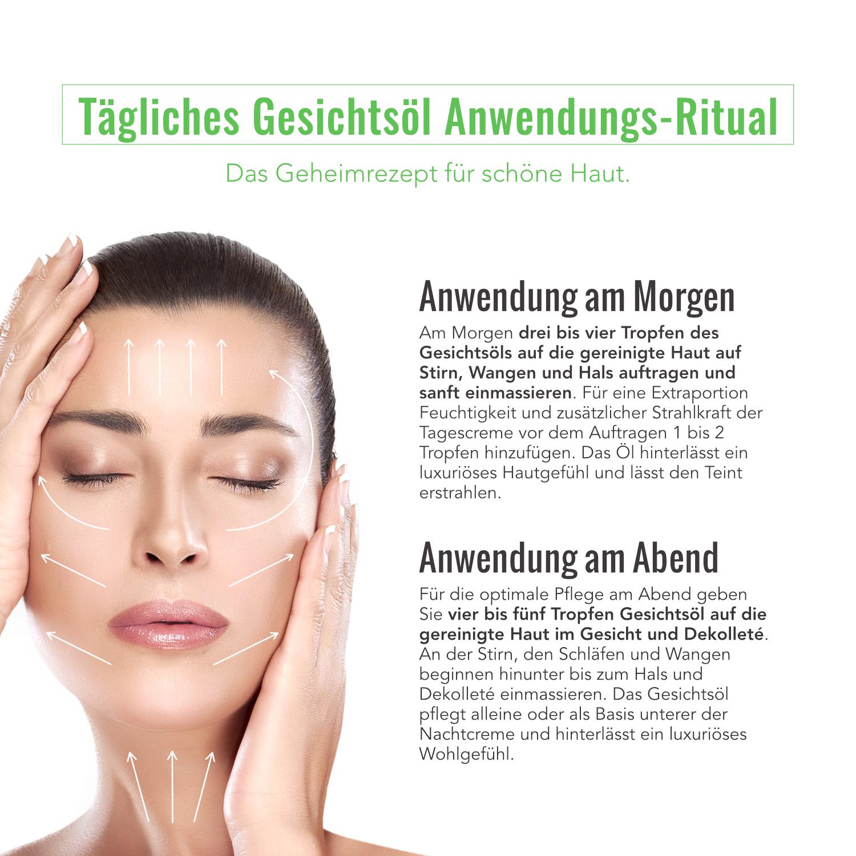 Wie wendet man Gesichtsöl richtig an?   Von: Judith Cosmetics 💚  👉 www.judithcosmetics.com