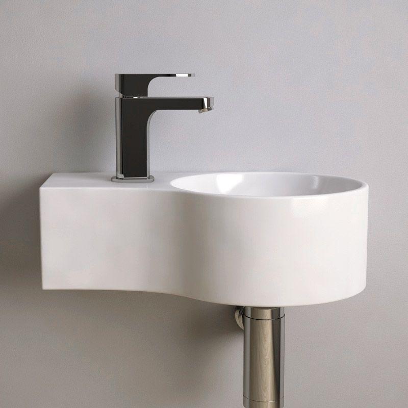 Lave Mains Gain De Place 43x27 Cm Ceramique Atsuo Lave Main Vasque Design Lavabo Design