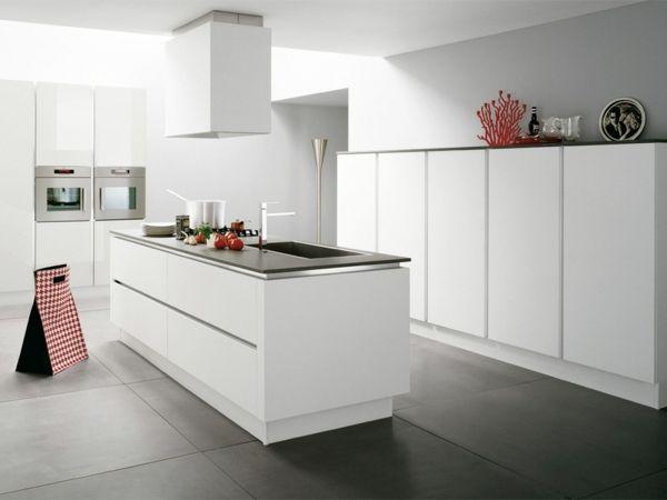 moderne Küche komplett weiß italienische Designer | Küche ... | {Moderne einbauküchen weiss 20}