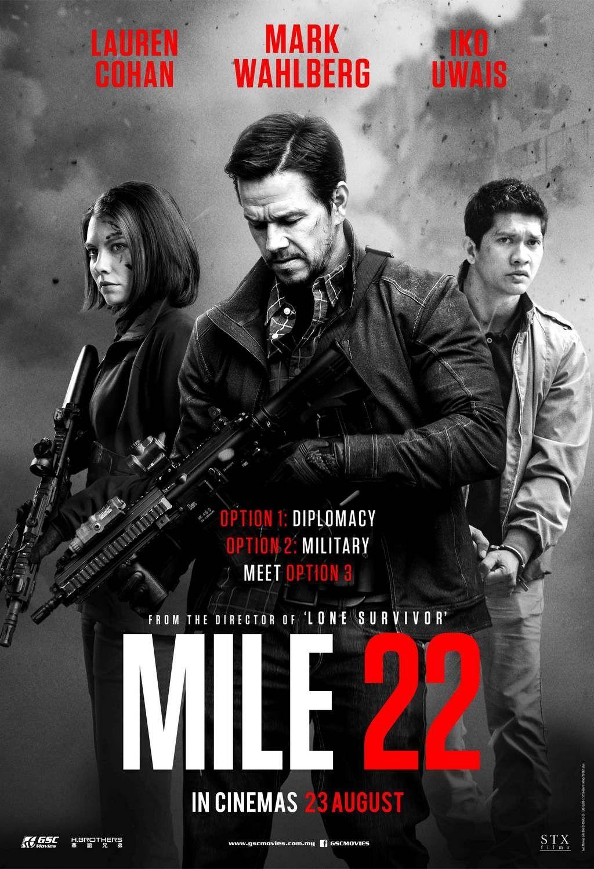 《拳力逃脫》Mile 22 (2018) 映画 ポスター, 映画, ムービー