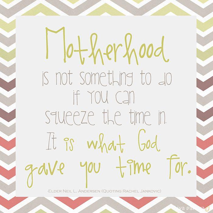 Motherhood quote - Elder Neil L. Andersen (quoting Rachel Jankovic) - free printable download from hiya papaya, great for Mother's Day!