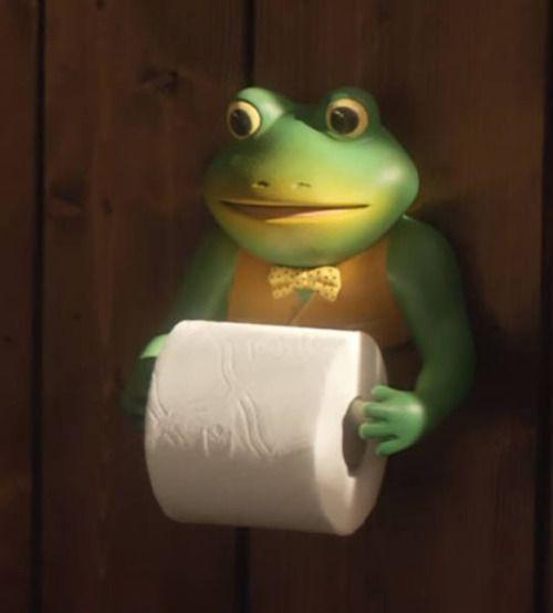 Theclearlydope Frog Toilet Paper Holder Frog Bathroom Frog Decor