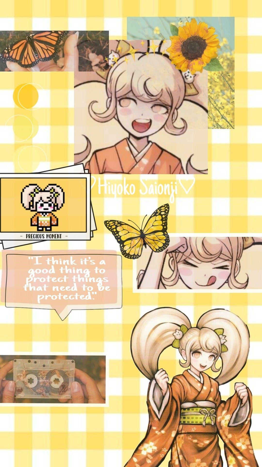 Hiyoko Saionji Wallpaper Aesthetic Anime Edgy Wallpaper Danganronpa