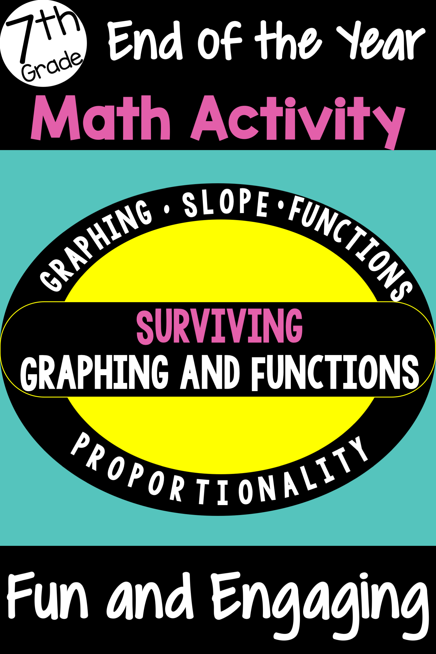 7th Grade Math End Of Year Review Activity Graphing And