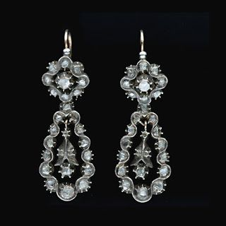 Georgian Diamond Earrings See more amazing jewelry at RadiantRings.net! #jewelry