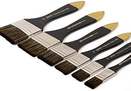 Photo of Amazon.com: Artist Flat Paint Brush-Large Wash Brushes Set for Gesso, Varnishes,…