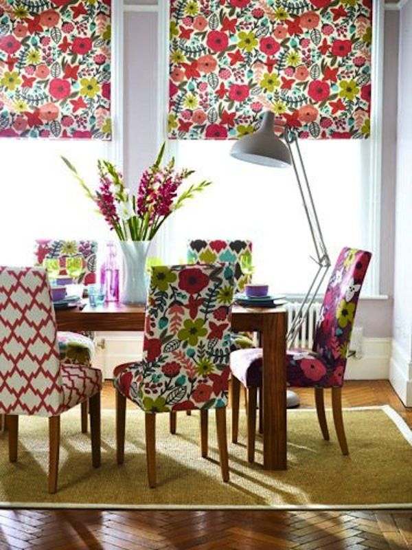 mixed upholstered dining chairs - Google Search | Colored ...