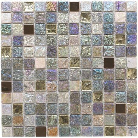 iridescent glass mosaic tiles