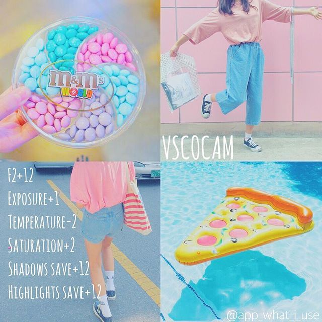 《VSCOCAM調色教學》 APP:VSCO ♡這個色調真的很夢幻~~但是有點忘記以前有沒有分享過建議是陽光下的照片會更 ...