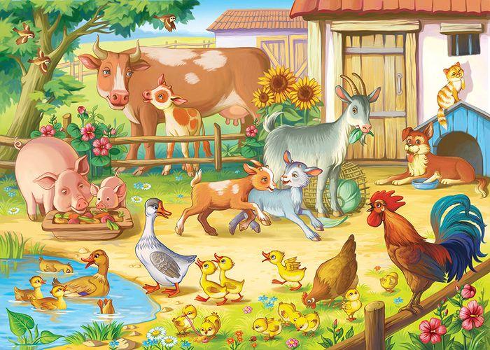 Забавные фермы: Изучаем животных