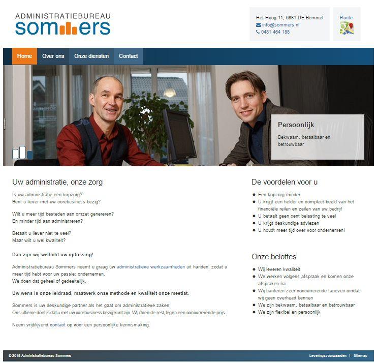 Nieuw logo en nieuwe responsive website voor Administratiebureau Sommers. Neem snel een kijkje op www.sommers.nl