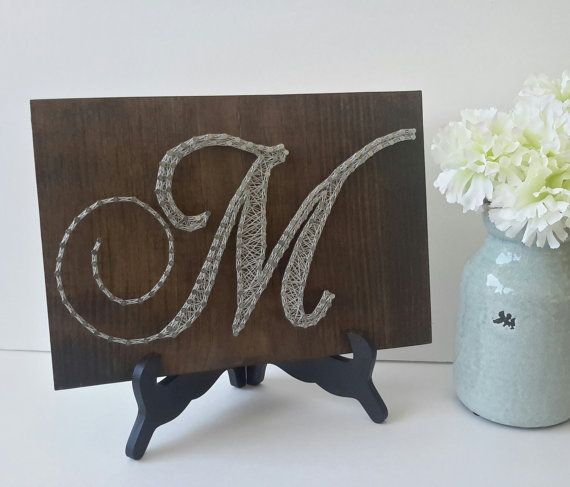 Letter M Wall Decor Personalized String Art By Carolinastrings