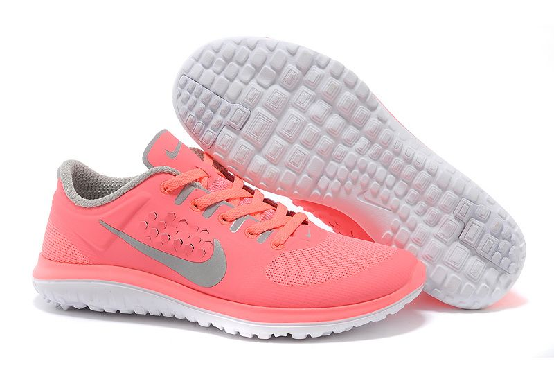 Nike FS Lite Run sale 2014 Women Light Pink Clearance Grey