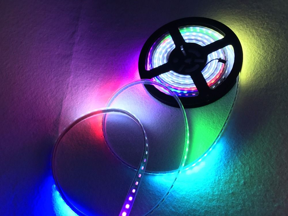 Addressable 5m 30leds M Dc5v Ws2813 Rgb Led Pixel Strip Waterproof By Silicon Coating Ip65 With 30pixels M Strip Lighting Led Flexible Strip Led Strip Lighting