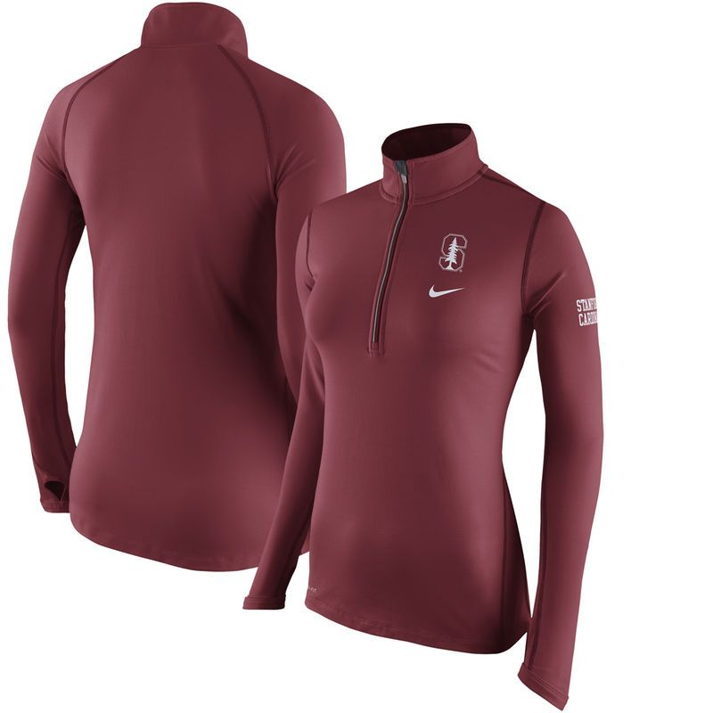 Stanford Cardinal Nike Women s Tailgate Element Performance Half-Zip Jacket  - Cardinal 5df1f4ab0