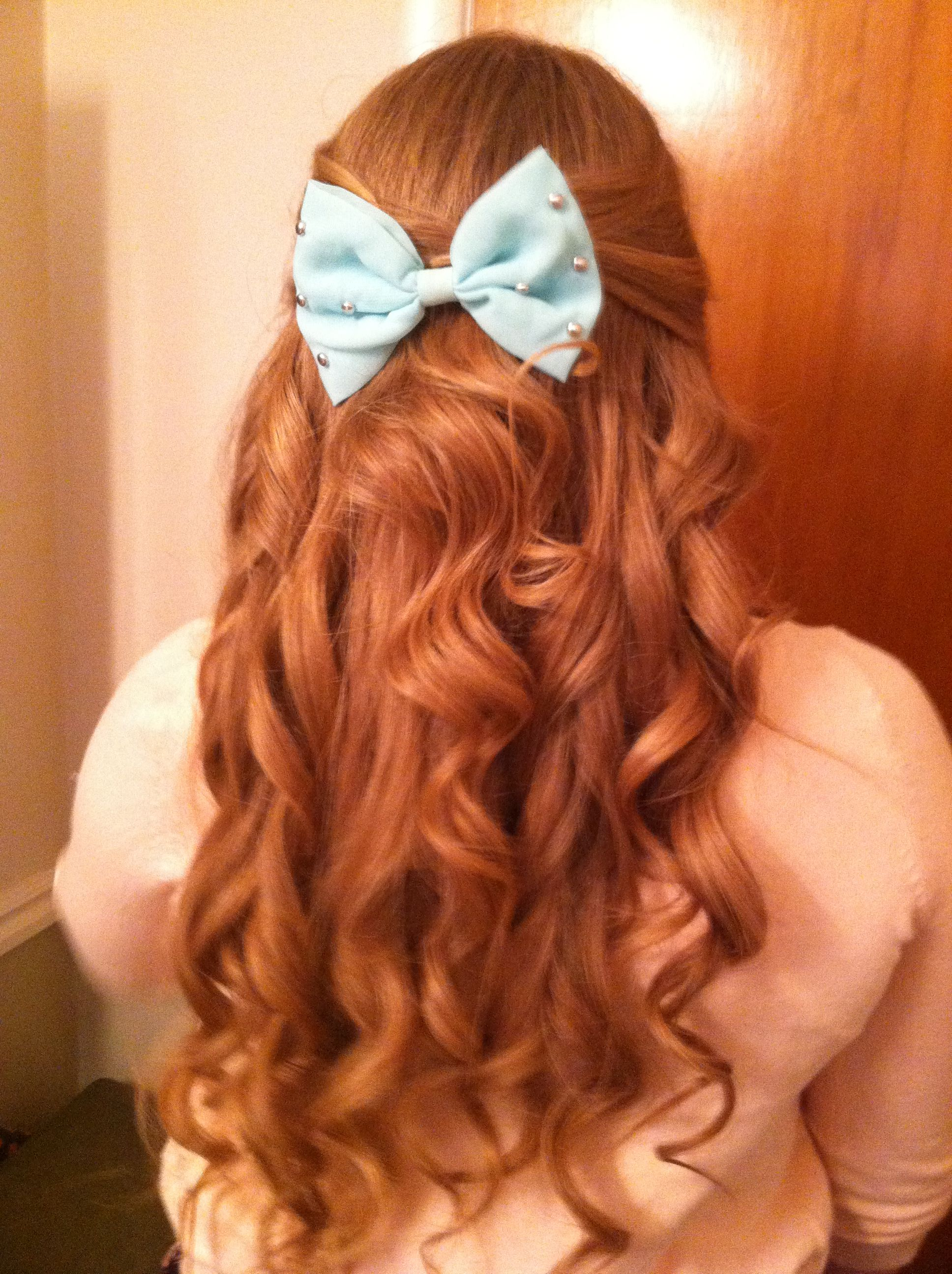 Cute bow from Claire's   Hair challenge, Hair styles, Hair ...
