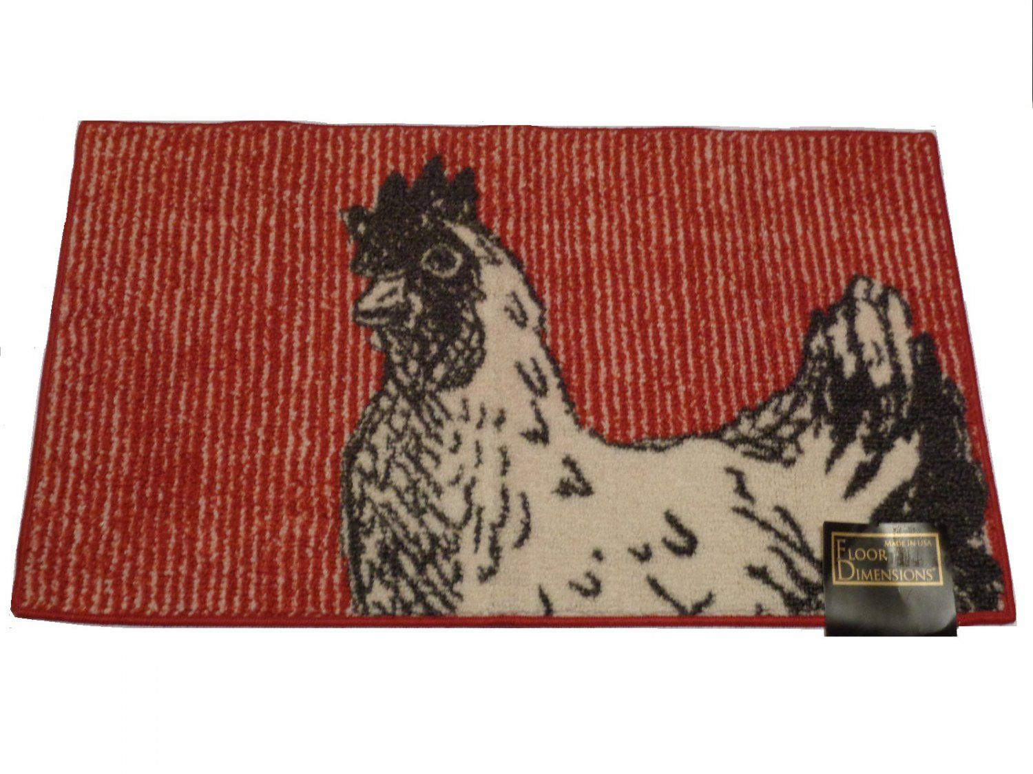 rooster kitchen rug design plans black white red country decor decorate your themed with this done in and featuring a