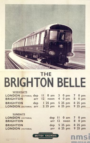 """Tim Dunn on Twitter: """"Two gorgeous British Railways posters from the 1950s, by legendary artist A N Wolstenholme. @railwaymuseum collection. - Travel by train. https://t.co/SmJIK4qyCS"""""""