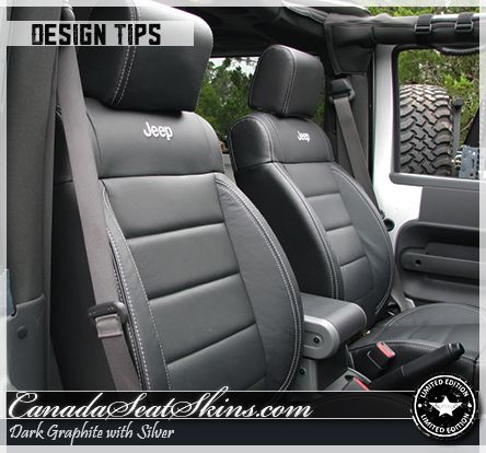 Jeep Wrangler Leather Package Jeep Logos And Silver Stitching
