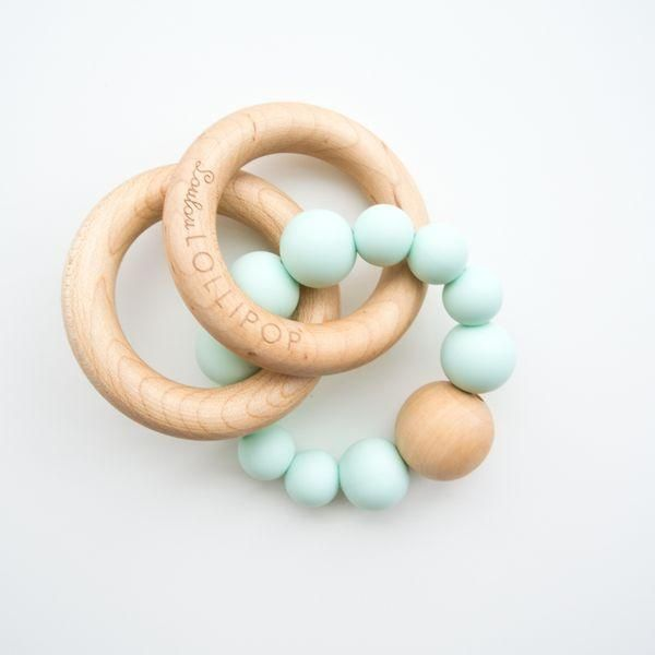 Loulou Lollipop Bubble Rattle Teether - Mint