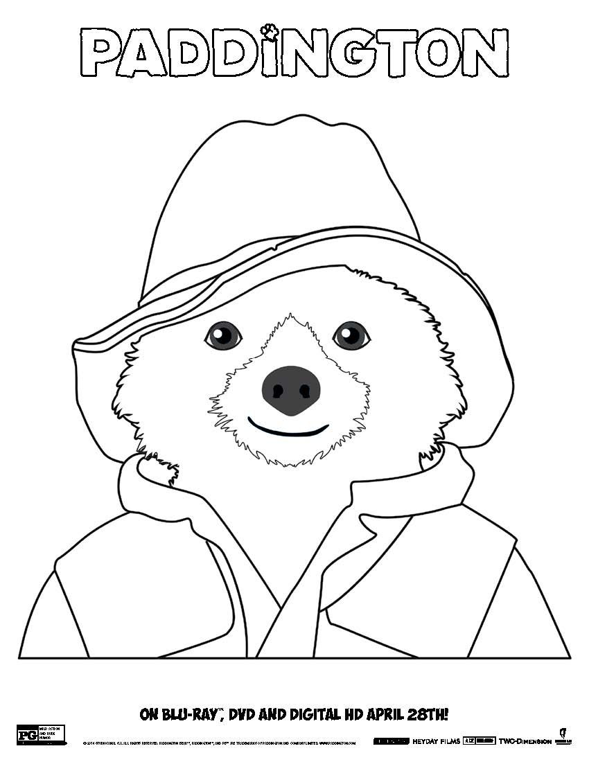 Paddington Coloring Sheet 1 Page 4 Bear Coloring Pages Coloring Pages Paddington Bear