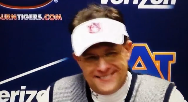 Video Gus Malzahn's hilarious reaction to miracle Iron