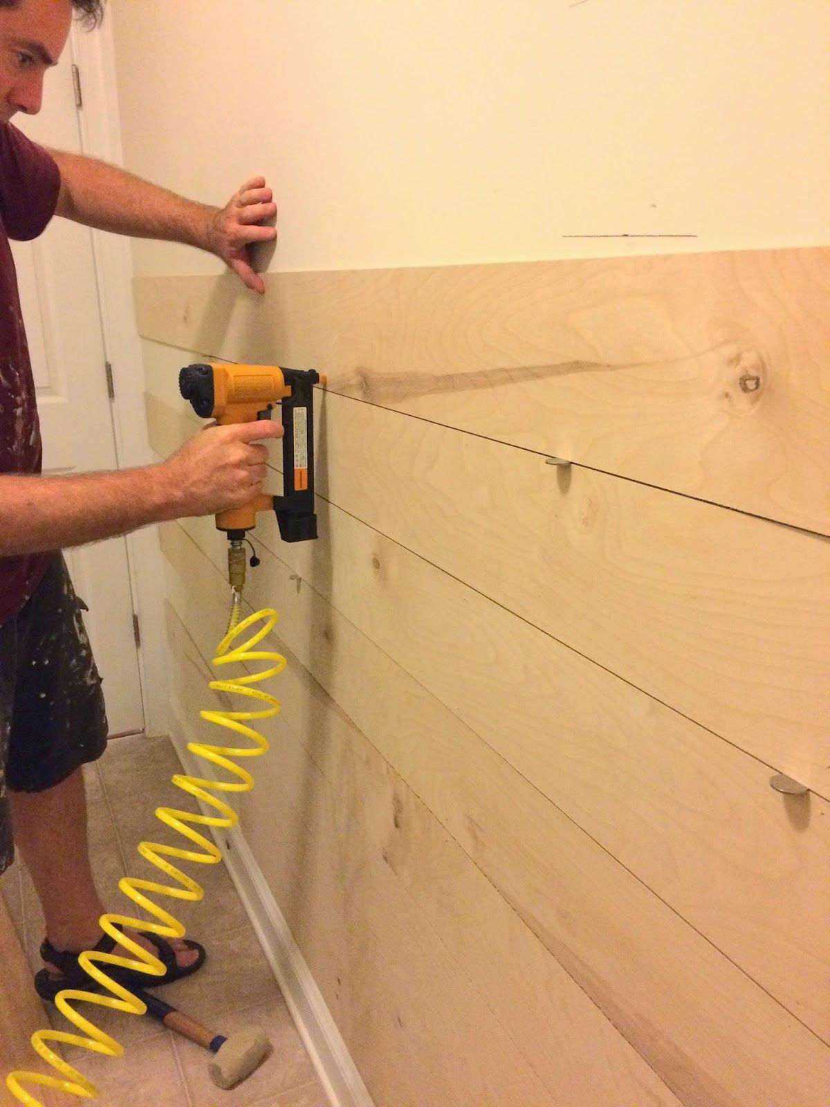 Right up my alley: DIY Ship Lap Wall | Bathroom remodel | Pinterest ...