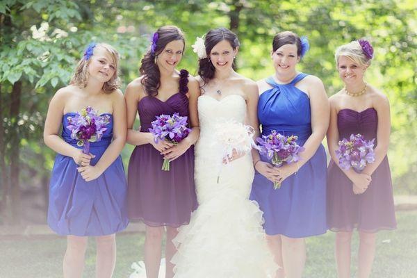 Purple Blue Bridesmaid Dresses - Ocodea.com