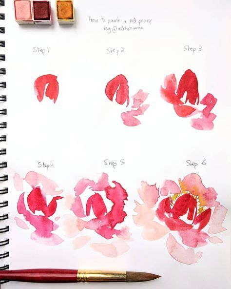 60 Trendy Painting Watercolor Flowers Tutorials How To Draw