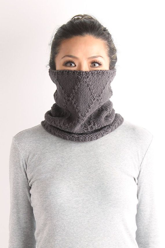 neckwarmer, cable neckwarmer, knit neckwarmer, women neckwarmer, knit cowl, chunky  knit cowl,  gray knit neckwarmer,  white knit neckwarmer