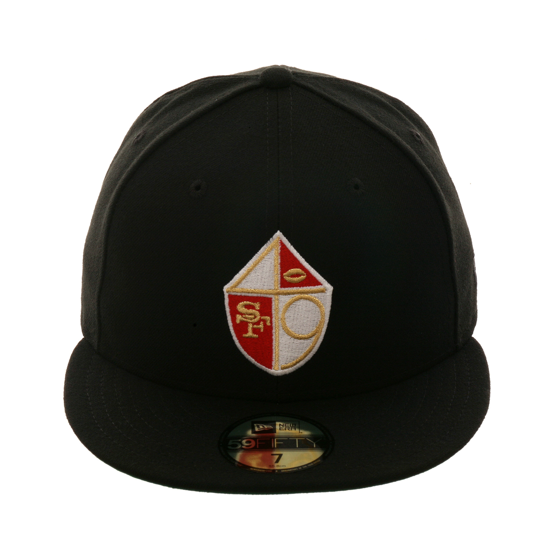online store 10d57 dbcc1 Exclusive New Era 59Fifty San Francisco 49ers Shield Hat - Black,  39.99