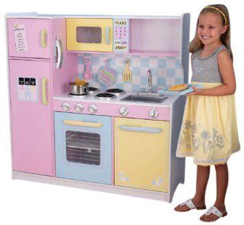 Charming KidKraft Large Pastel Kitchen 53181 At Best Price Toys