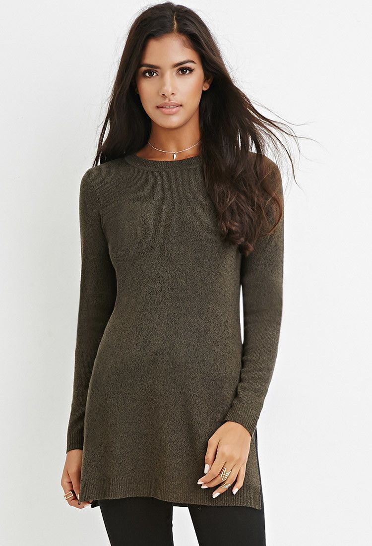 Side-Slit Sweater Tunic | Tops | Pinterest | Forever21 and Tunics