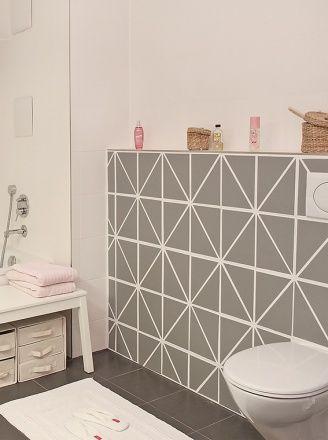Mein Musterbad Fliesenfolie Badezimmerideen Badezimmergestaltung