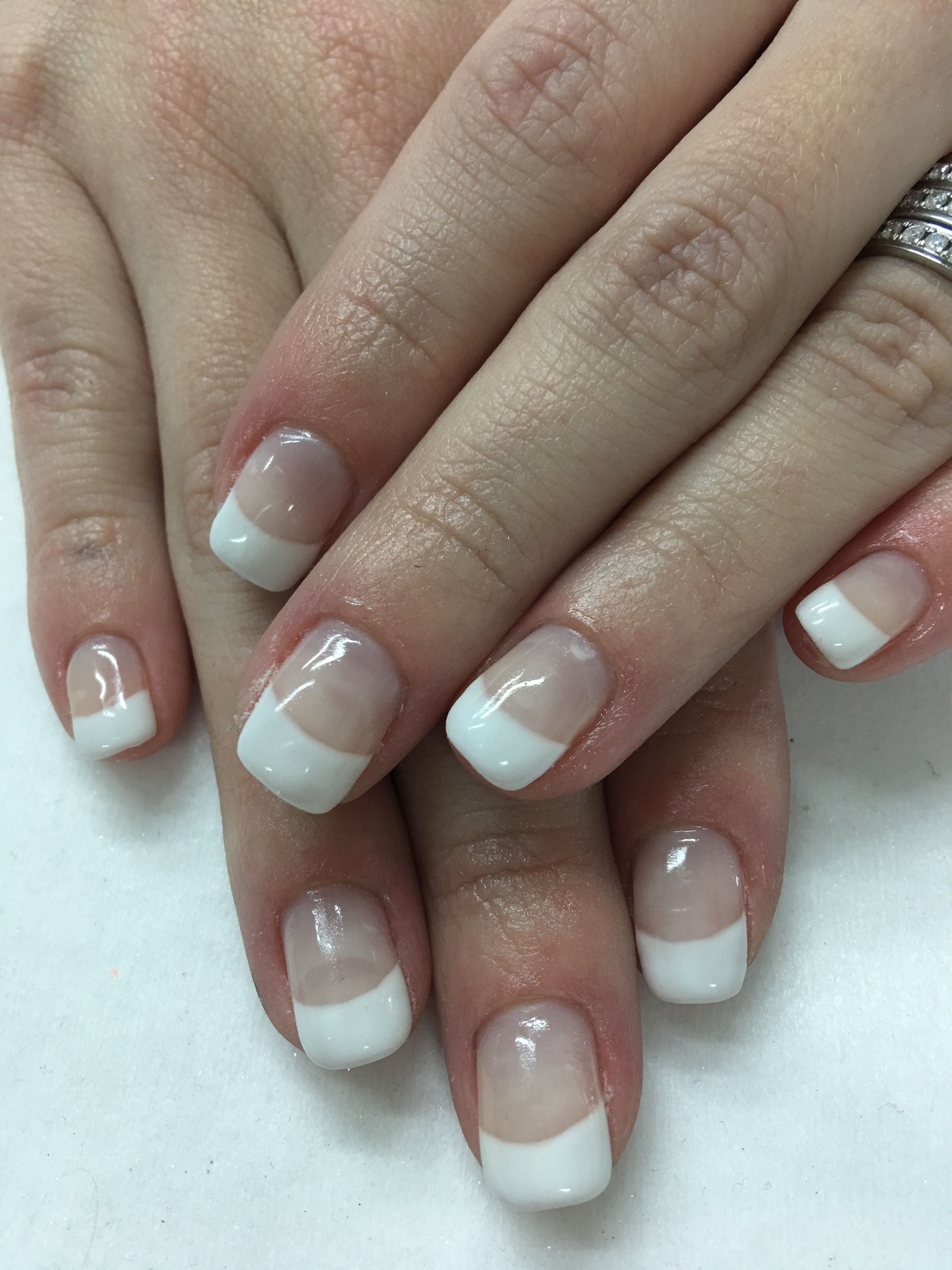 Classic White French Gel Nails | Gel Nail designs | Pinterest