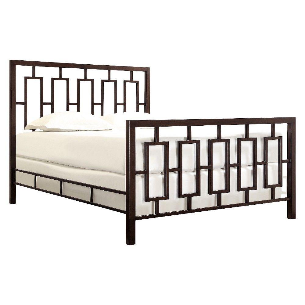 Jaffray Standard Metal Bed Bronze (Full) - Homelegance ...