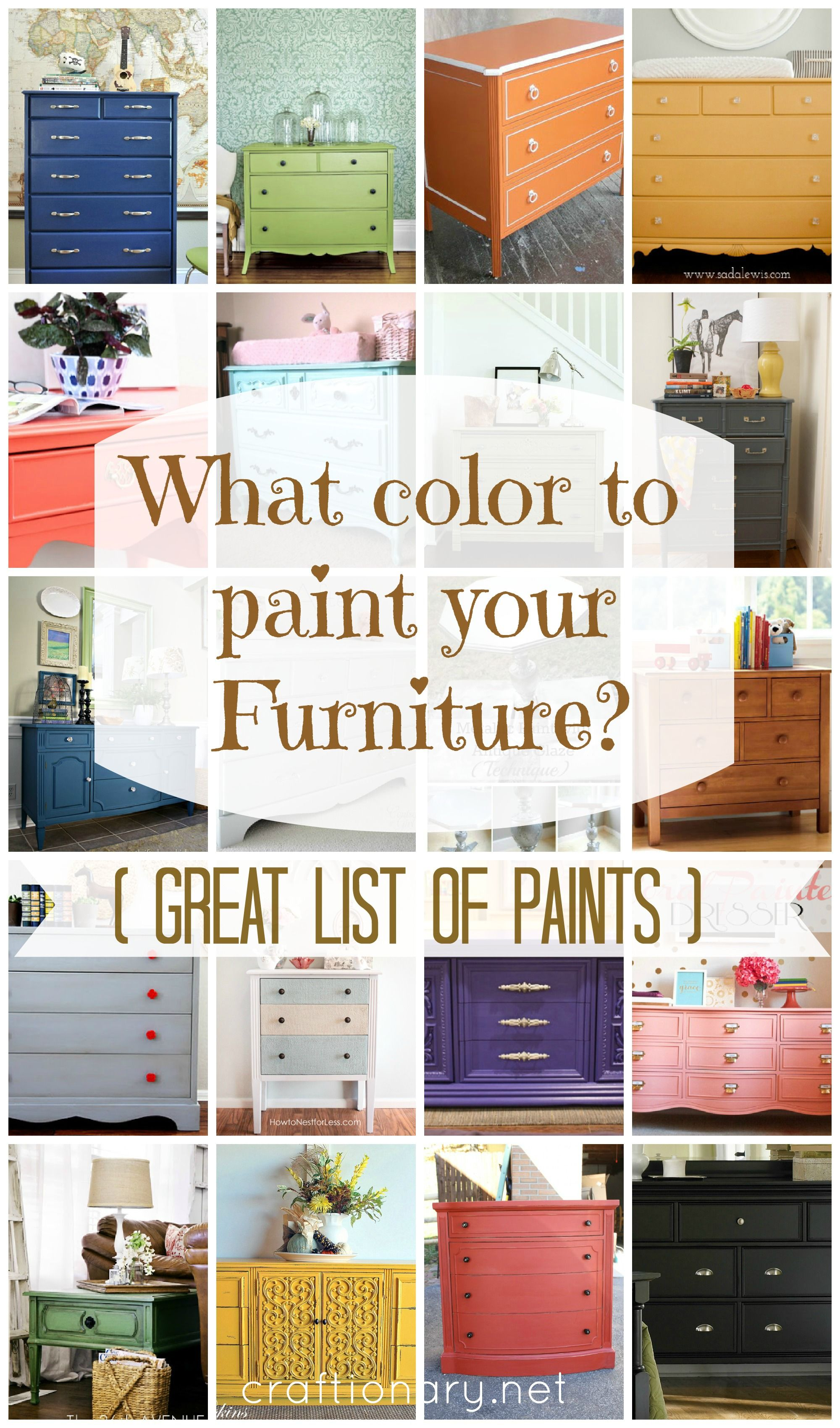 What Color To Paint Wrought Iron Patio Furniture: Furniture Paint Colors On Pinterest