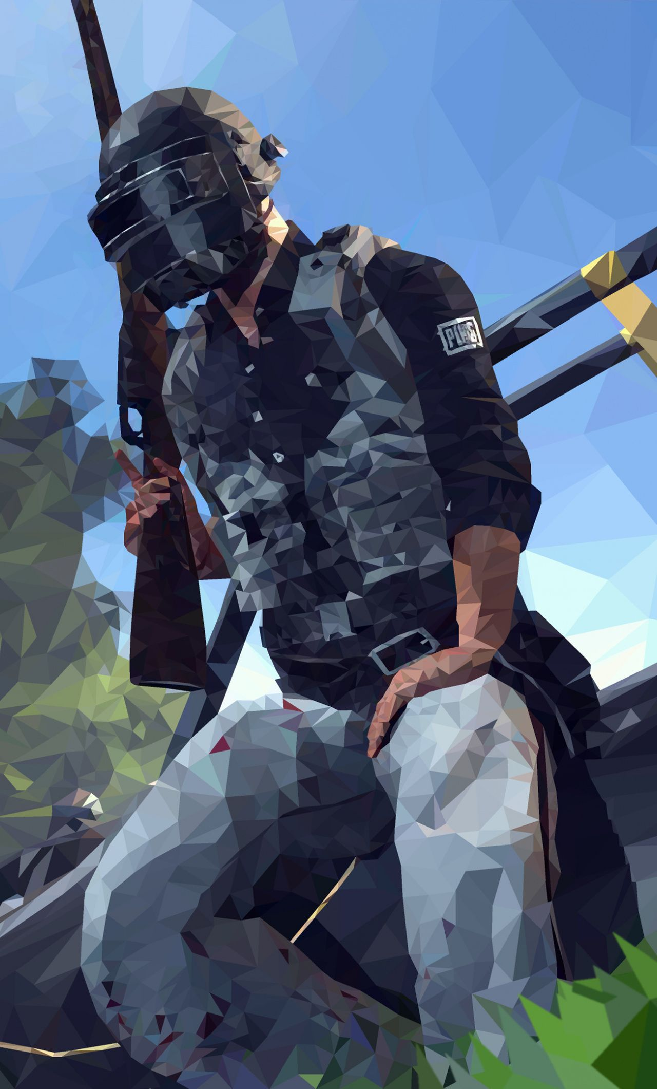 Pubg Video Game Low Poly Helmet Guy Artwork 1280x2120 Wallpaper Game Wallpaper Iphone Android Phone Wallpaper Hd Phone Wallpapers
