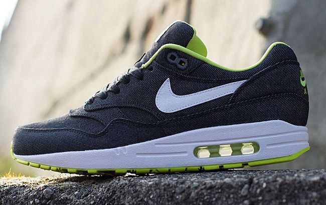 Air Max 1 Fourgonnettes Jaunes Cyber Denim