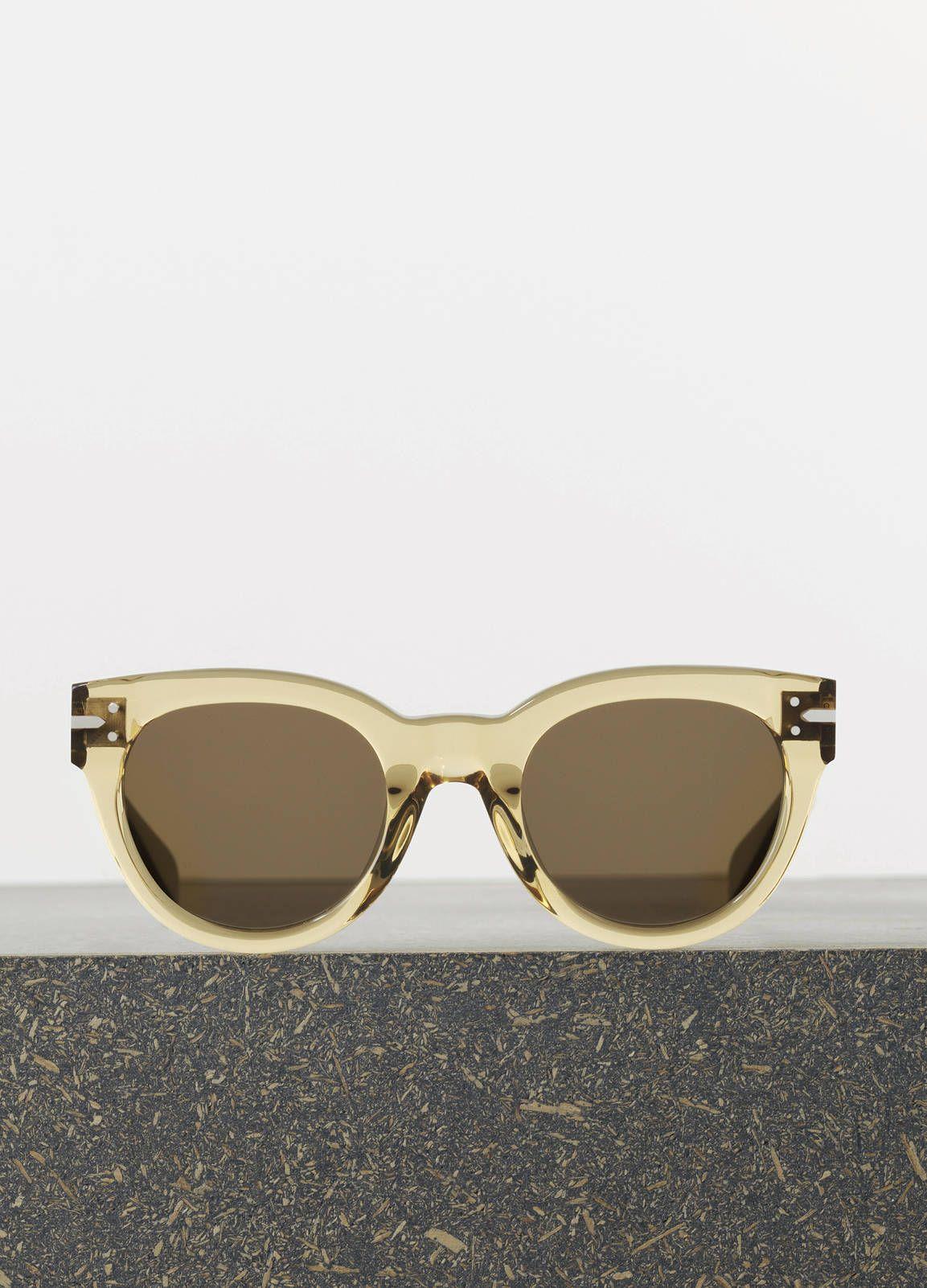 4dfb917ab3b3 Céline New Butterfly Sunglasses in Transparent Saffron Acetate with Brown  Lenses