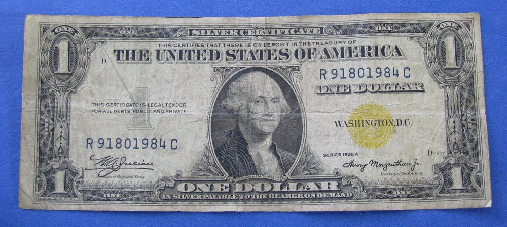 1935a North Africa Emergency 1 Silver Certificate Note Fr 2306