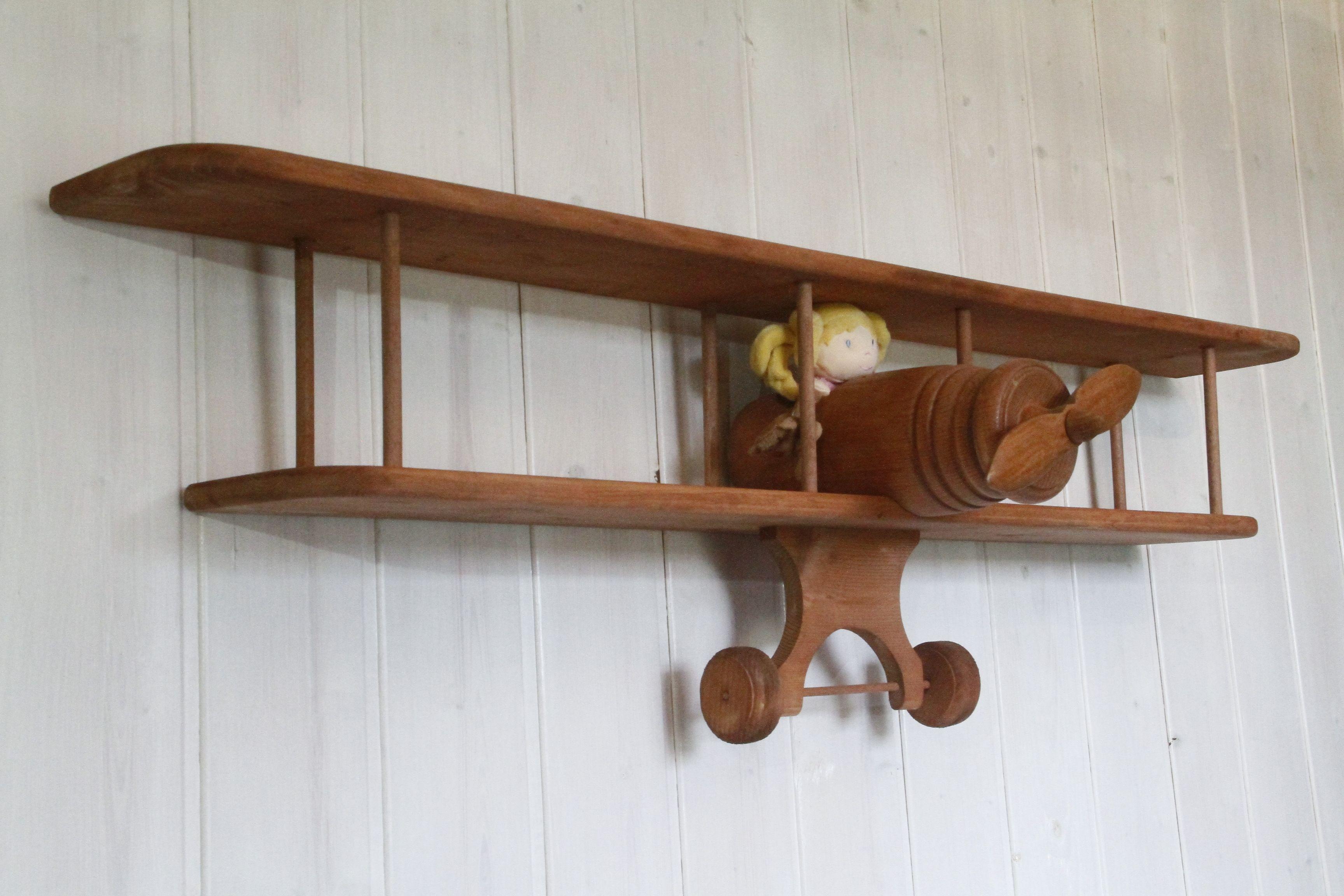 Etagere Avion Chambre Bebe etagère avion en bois pour chambre bébé ou enfant | chambre