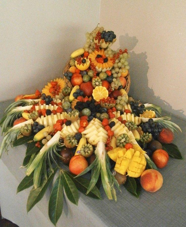 D 233 Coration Table Corbeille De Fruits Frais Et Exotiques