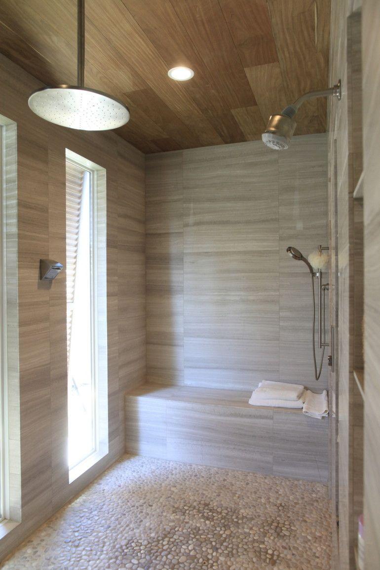 teak shower Google Search Wood tile shower, Shower