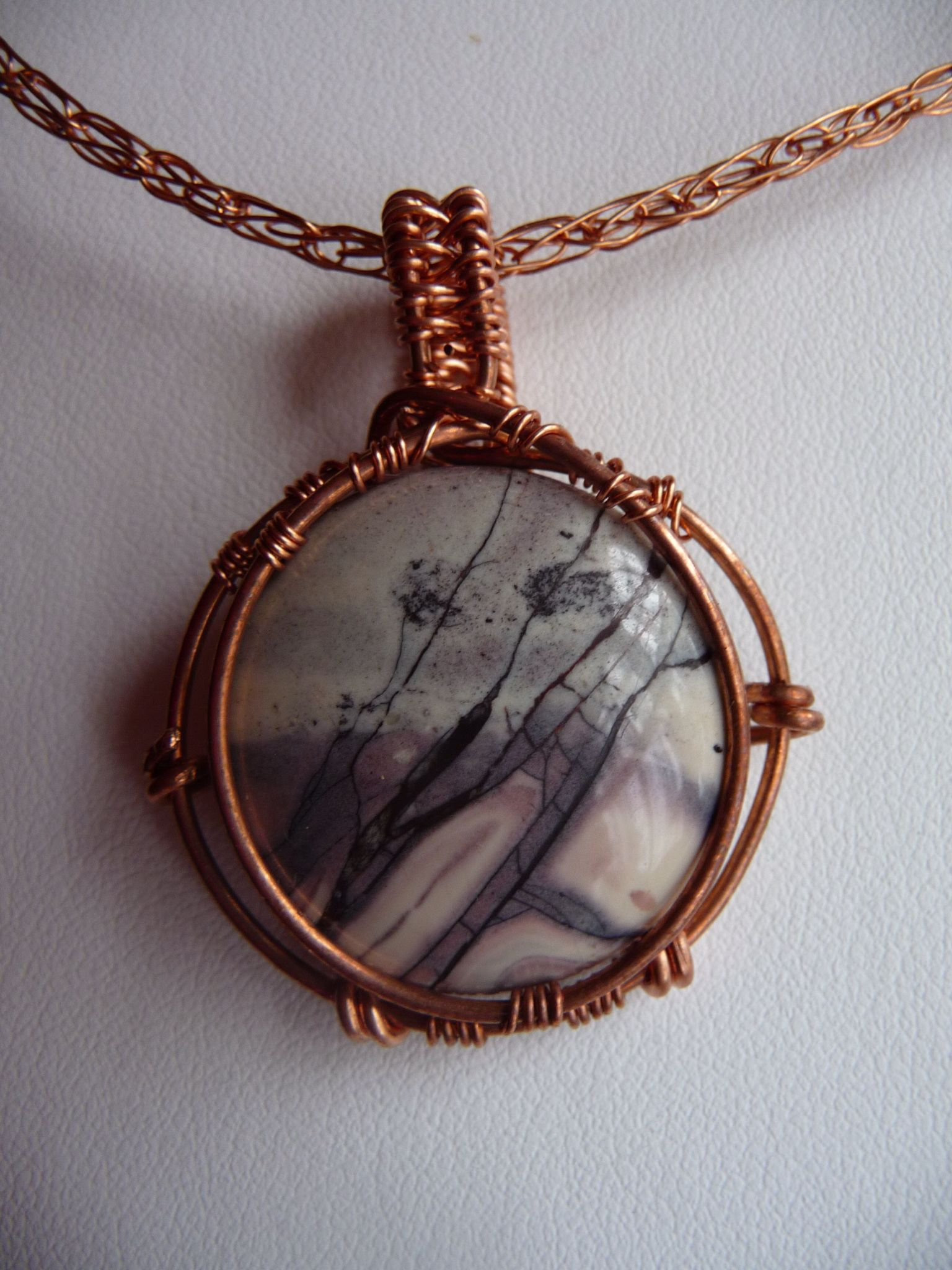 Picasso jasper set in copper wire | wire werk | Pinterest | Copper ...