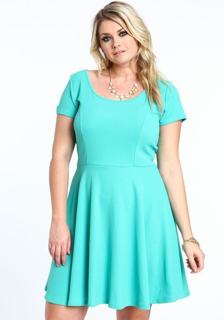 Plus Size Skater Dress My Sweet Style Pinterest Dresses