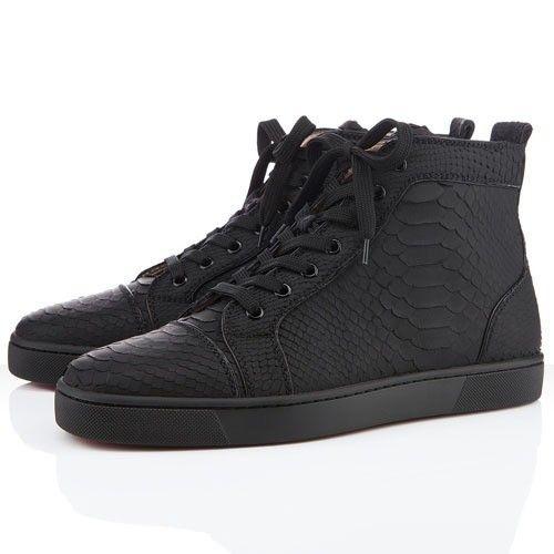 le dernier cfe54 74442 Chaussure Louboutin Pas Cher Homme Noir #redbottomshoes ...