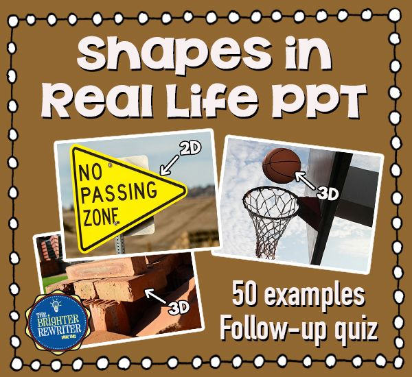 Rectangular Prism Real Life Examples: 2D And 3D Shapes PowerPoint