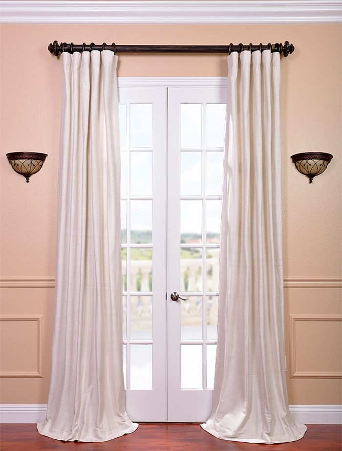 Coconut Raw Silk Curtain Drapes Curtains Curtains Silk Curtains