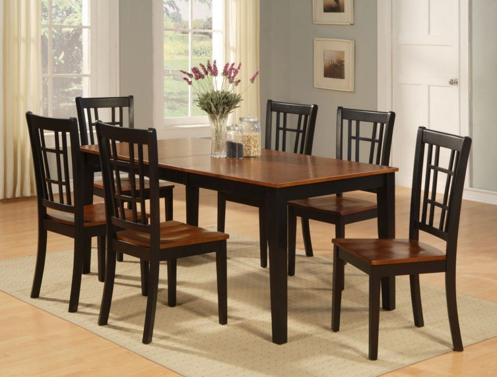 Kitchen Mahogany Kitchen Table And Chairs Sets Purple Flower On